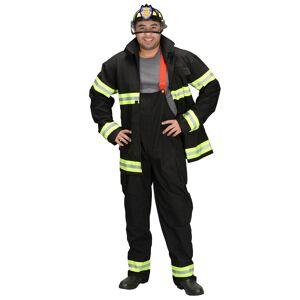 Aeromax Adult Black Fireman Costume w/ Helmet