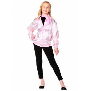 FUN Costumes Kids Grease Pink Ladies Costume Jacket  - Pink - Size: Extra Small