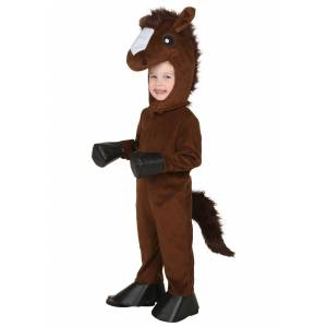 FUN Costumes Toddler Happy Horse Costume  - Brown - Size: 18/2T