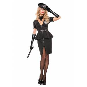 Starline, LLC. Women's Elegant Cop Costume  - Black - Size: Large