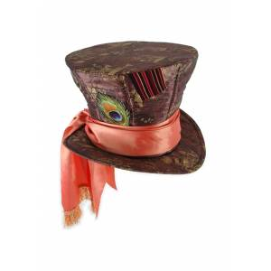 Elope Mad Hatter Hat  - Brown - Size: One Size
