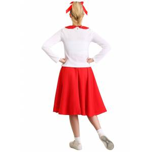 FUN Costumes Women's Grease Rydell High Cheerleader Costume  - Red/White - Size: Extra Small