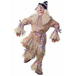Forum Novelties, Inc Deluxe Men's Scarecrow Costume  - Brown - Size: Extra Large