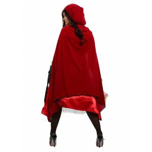 FUN Costumes Womens Fairytale Red Riding Hood Costume  - Black/Red/White - Size: Extra Large