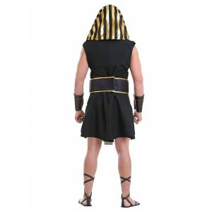 FUN Costumes Men's Ancient Pharaoh Costume  - Black/Orange - Size: Large
