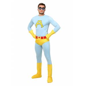 FUN Costumes Adult Deluxe Ace Costume  - Blue/Yellow - Size: Small