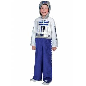 Princess Child Deluxe R2D2 Costume  - Blue/White - Size: Extra Small