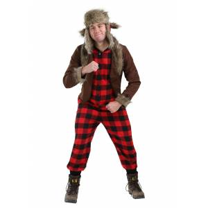 FUN Costumes Funny Wabbit Hunter Costume for Adults  - Black/Brown/Red - Size: Medium