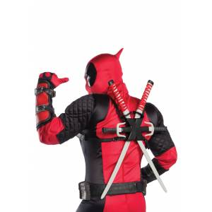 Rubies Costume Co. Inc Authentic Deadpool Costume for Adults  - Black/Red - Size: Extra Large