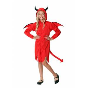 FUN Costumes Cute Devil Costume for Girls  - Red - Size: Extra Large