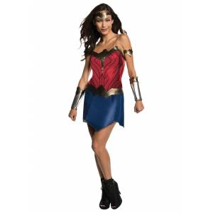 Rubies Costume Co. Inc Wonder Woman Classic Costume for Women  - Blue/Red - Size: Medium