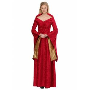 FUN Costumes Lion Queen Costume for Women  - Red/Orange - Size: Small