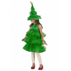 Princess Glitter Christmas Tree Costume for Toddlers/Girls