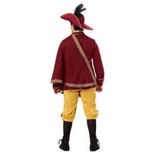 FUN Costumes Noble Man Renaissance Costume for Adults  - Orange/Red - Size: Extra Large