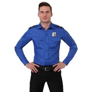 FUN Costumes TSA Agent Blue Long Sleeved Costume Shirt  - Black/Blue - Size: Extra Large
