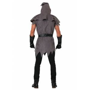 FUN Costumes Evil Executioner Costume for Plus Size Men 2X  - Black/Brown/Gray - Size: 2X