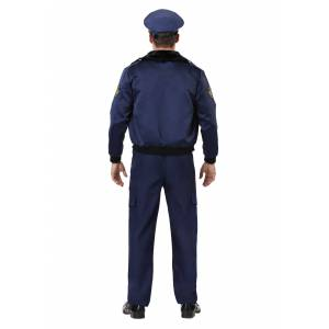 FUN Costumes Deluxe Blue Cop Men's Costume  - Blue/White - Size: Extra Large