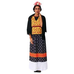 FUN Costumes Frida Kahlo Women's Plus Size Costume  - Black/Orange/Yellow - Size: 1X