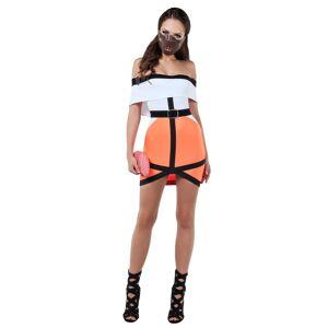 Starline, LLC. Silent One Costume Scary Women's Costume  - Orange/White - Size: Large