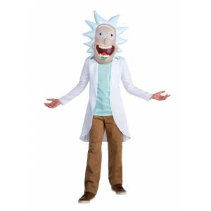 LF Products Pte. Ltd. Rick and Morty Rick Child Costume  - White - Size: 14/16