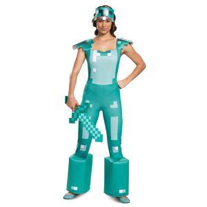 Disguise Minecraft Female Armor Costume  - Blue/White - Size: Medium