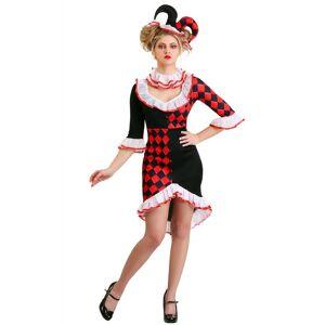 FUN Costumes Haute Harlequin Women's Costume  - Black/Red/White - Size: Small