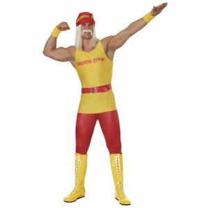FUN Costumes Plus Size Men's Wrestling Legend Costume  - Red/Yellow - Size: 3X