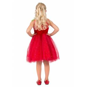 Princess Strawberry Sweetie Costume for Girls  - Green/Red/White - Size: Small