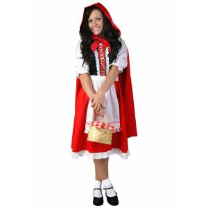 FUN Costumes Plus Size Little Red Riding Hood Costume  - Red/White - Size: 3X