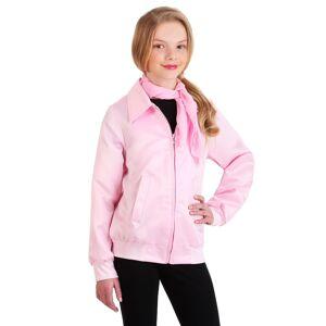 FUN Costumes Grease Pink Ladies Costume Jacket for Girls  - Black/Pink - Size: Large