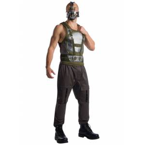 Charades Adult Plus Size Bane Dark Knight Costume  - Brown/Beige - Size: 1X