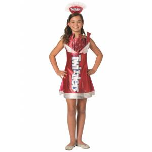 Morris Costumes Twizzlers Girls Twizzlers Costume Kids  - Red/White - Size: 8/10