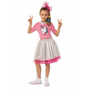 Rubies Costume Co. Inc Kid in Candy Store JoJo Siwa Costume  - Pink/Gray - Size: Small