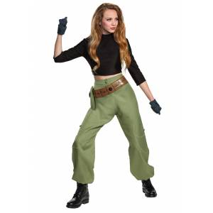 Disguise Limited Kim Possible Animated Series Kim Possible Costume for Women  - Black/Green - Size: Large
