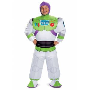Disguise Disney Toy Story Buzz Lightyear Inflatable Costume for Kids  - Green/Purple/White - Size: One Size