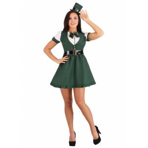 FUN Costumes Sexy St. Patrick's Day Women's Costume  - Green/White - Size: Large