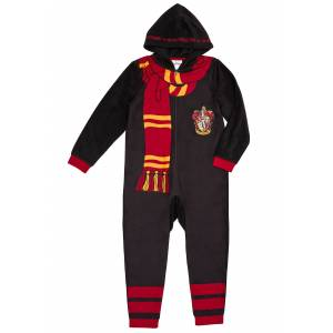Komar Harry Potter Hooded Union Suit For Kids  - Black/Orange/Red - Size: Extra Small