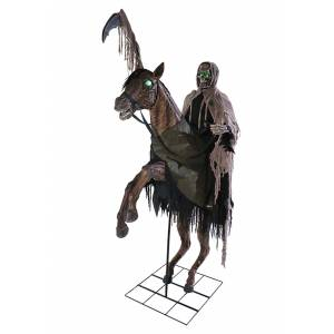 Morris Costumes Reaper's Ride Animatronic 7 Foot Prop  - Gray - Size: One Size