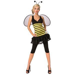 LF Products Pte. Ltd. Adult Honey Bee Costume  - Black/Yellow - Size: Medium