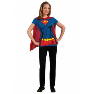 Rubies Costume Co. Inc Supergirl T-Shirt Costume  - Blue/Red - Size: Large