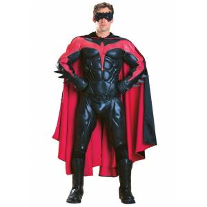 Rubies Costume Co. Inc Adult Authentic Robin Costume  - Black/Red - Size: Large
