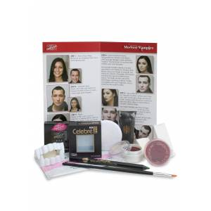 Mehron Inc Mehron Modern Vampire Makeup Kit  - Red/White - Size: One Size