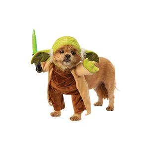 Rubies Costume Co. Inc Walking Yoda with Lightsaber Dog Star Wars Costume  - Green/Brown - Size: Medium