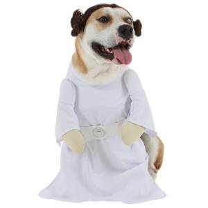 Rubies Costume Co. Inc Princess Leia Dog Costume  - White - Size: Small