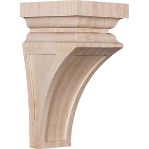 Ekena Millwork CORW06X06X12NERO 6 x 6.75 x 12 in. Large Nevio Wood Corbel, Red Oak