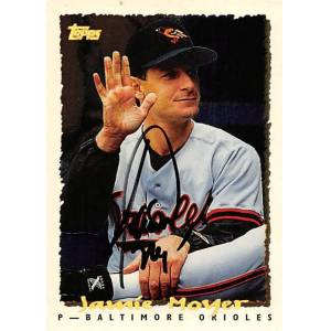 Autograph Warehouse 377093 Jamie Moyer Autographed Baseball Card 1995 Topps Cyberstats No. 172