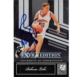 Autograph Warehouse 377735 Rebecca Lobo Autographed Basketball Card 2007 Donruss Elite No. 80