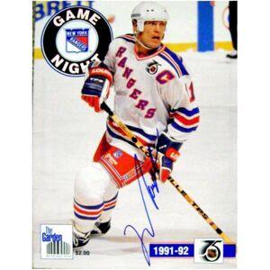 Autograph Warehouse 377563 Mark Messier Autographed Program New York Rangers 1991-1992