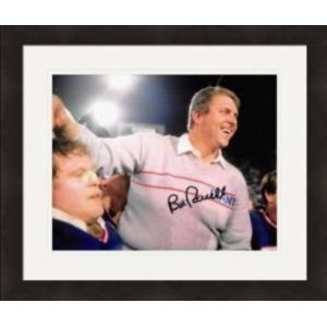 Autograph Warehouse 422058 Bill Parcells Autographed 8 x 10 in. Photo New York Giants, Super Bowl Championship Coach No.17 Matted & Framed