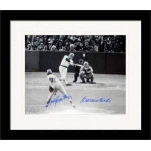 Autograph Warehouse 259620 Bernie Carbo & Rawley Eastwick Autographed 11 x 14 in. Photo 1975 World Series HR Matted & Framed